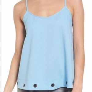 Soprano Grommet Trim Tank Top Sleeveless Shirt